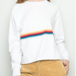 Brandy Melville Acacia Rainbow Top Long Sleeve